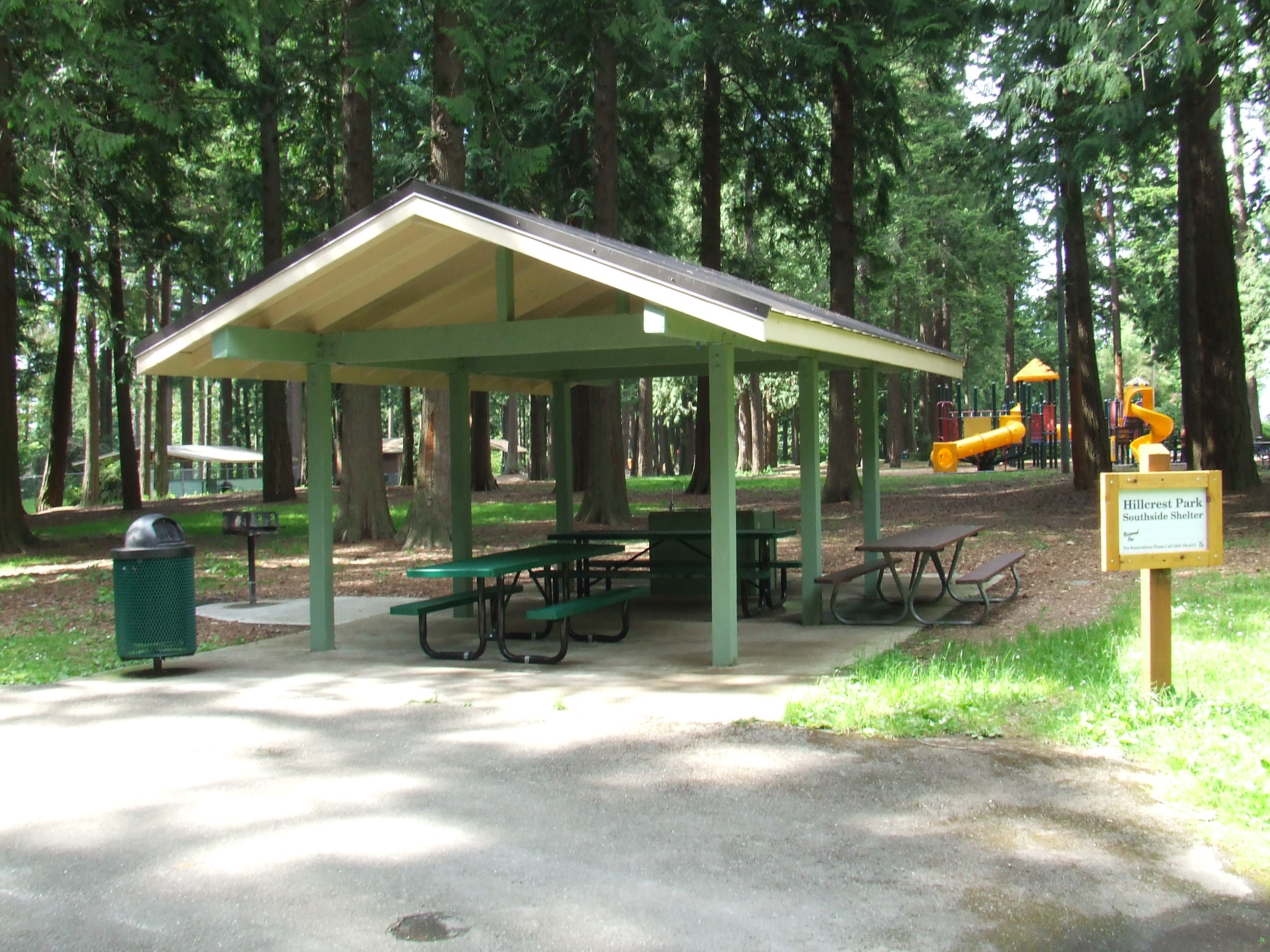 South View Shelter at Hillcrest Park
