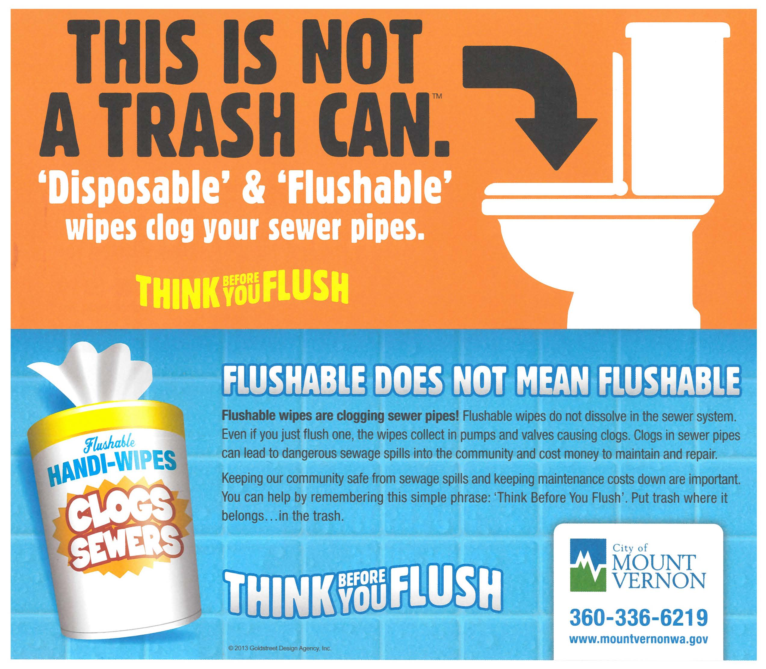 Flushable Wipes - Not flushable
